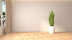 Building Up Modern Living Room. 3d illustration Stock Footage