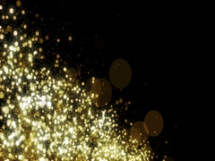 Particles gold glitter bokeh award dust abstract background loop 31 Stock Footage