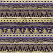 Seamless Ethnic Geometric Knitted Pattern. Violet Yellow Blue Horizontal Se.. Stock Illustration