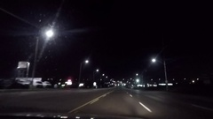 POV Traveling on a Toronto street late night Stock Footage