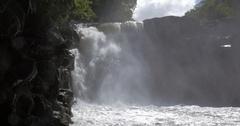 Waterfall among the rocks in Mauritius Stock Footage