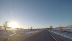 Semi-Truck Pass near La Salle, IL  Stock Footage