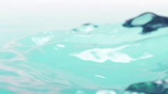 Blue marine color water surface with waves from wind in 180fps slow motion Stock Footage