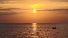 Heart breaking sunset in Ko Lanta, Thailand Stock Footage