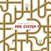 Pipe System Background Stock Illustration
