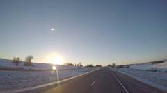 C.R. England Semi-Truck Pass near La Salle, IL Stock Footage