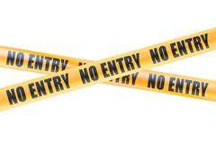 No Entry Caution Barrier Tapes, 3D rendering Stock Illustration