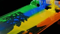 Color of plastisol ink Stock Footage