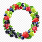 Colorful Berries Round Set Stock Illustration