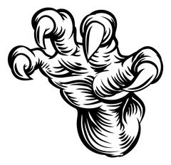 Monster Claw Talons Hand Stock Illustration