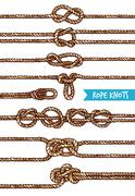 Rope Knots Set Stock Illustration