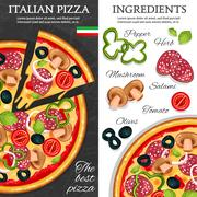 Pizza Vertical Banners Piirros