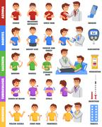 Illnesses And Medication Poster Stock Illustration