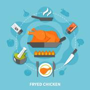 Cooking Flat Template Stock Illustration