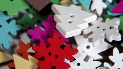Mixed coloured bright buttons Christmas tree background Stock Footage