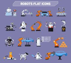 Robots Icons Set Piirros