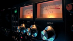 VU Meter  128 bmp Stock Footage