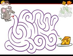 Maze activity with mouse Stock Illustration