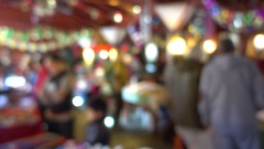 Christmas fair out of focus Stock Footage