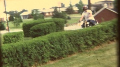 Vintage 8mm home movie, teen with new motorcycle Stock Footage