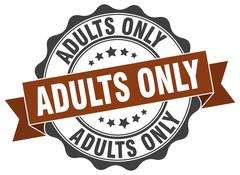 Adults only stamp. sign. seal Stock Illustration