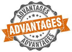 Advantages stamp. sign. seal Stock Illustration