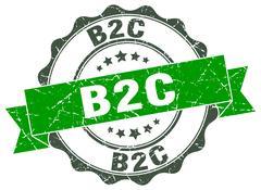 B2c stamp. sign. seal Stock Illustration