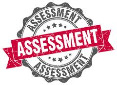 Assessment stamp. sign. seal Stock Illustration