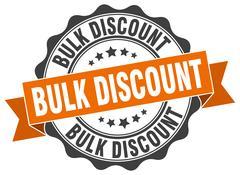 Bulk discount stamp. sign. seal Stock Illustration