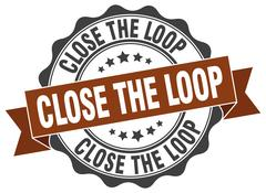 Close the loop stamp. sign. seal Stock Illustration