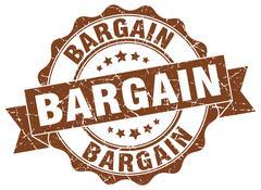 Bargain stamp. sign. seal Stock Illustration