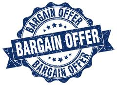 Bargain offer stamp. sign. seal Stock Illustration