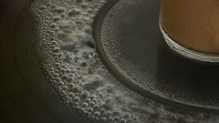 Hot water on pan. Stock Footage