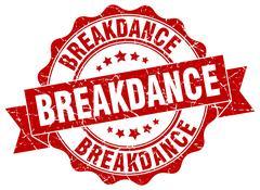 Breakdance stamp. sign. seal Stock Illustration