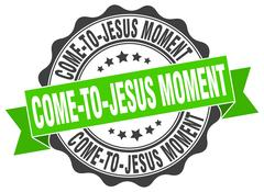 Come-to-jesus moment stamp. sign. seal Stock Illustration