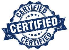 Certified stamp. sign. seal Stock Illustration