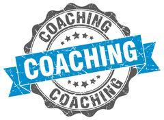 Coaching stamp. sign. seal Stock Illustration