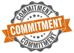 Commitment stamp. sign. seal Stock Illustration