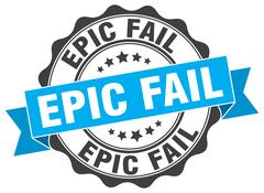 Epic fail stamp. sign. seal Stock Illustration