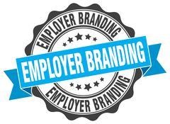 Employer branding stamp. sign. seal Stock Illustration