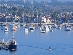 Newport beach in California USA at sunrise Stock Footage