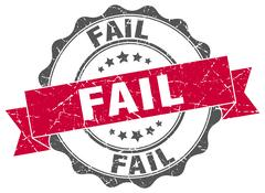 Fail stamp. sign. seal Stock Illustration