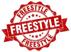 Freestyle stamp. sign. seal Stock Illustration