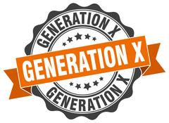 Generation x stamp. sign. seal Stock Illustration