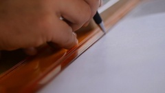Close up of Arch Measuring process. Stock Footage