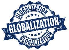 Globalization stamp. sign. seal Stock Illustration