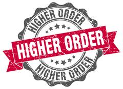 Higher order stamp. sign. seal Stock Illustration