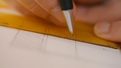 Triangle centimeter rulers. Stock Footage