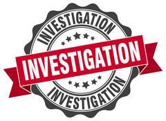 Investigation stamp. sign. seal Stock Illustration