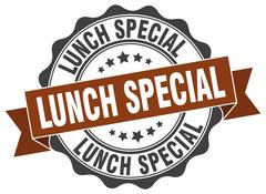 Lunch special stamp. sign. seal Stock Illustration